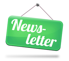 Sign that says Newsletter